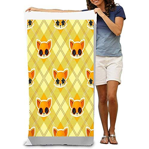 Yocmre fluweel absorberende badhanddoek inch Animal Collection Fox watermerk