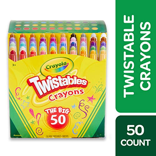 Crayola Twistables Crayons Coloring Set, Kids Indoor Activities At Home, Age 3+ - 50 Count