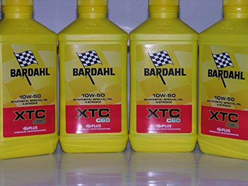 4 LT OLIO motore moto BARDAHL BARDHAL XTC C60 10W50 Sintetico 4 TEMPI