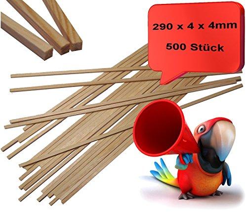 funfood4you Zuckerwattestäbchen,Holzstäbchen für Zuckerwatte 500 Stück 4x4x290mm