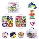 Herefun 9000 Perles à Repasser, 36 Couleurs Magique Perles de Loisirs Créatifs Kits, 6 Plaques+3 Brucelles+2 Repassage Papier Accessoires Perles de Mode Kit pour DIY Enfants Adultes