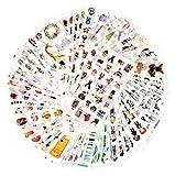 72 hojas pegatina de scrapbook pegatina de Washi pegatina de decoración pegatina de planificador pegatina de diario para adultos para álbum fabricación de tarjetas arte y artesanía (Inocencia)