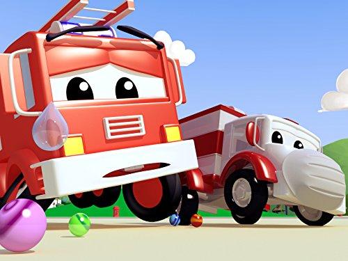 Klein Jerry das Rennauto hat eine Felge gebrochen / Feuerwehrauto hat eine Murmel verschluckt / Pickup hat ihre Stimme verloren und kann nicht singen!