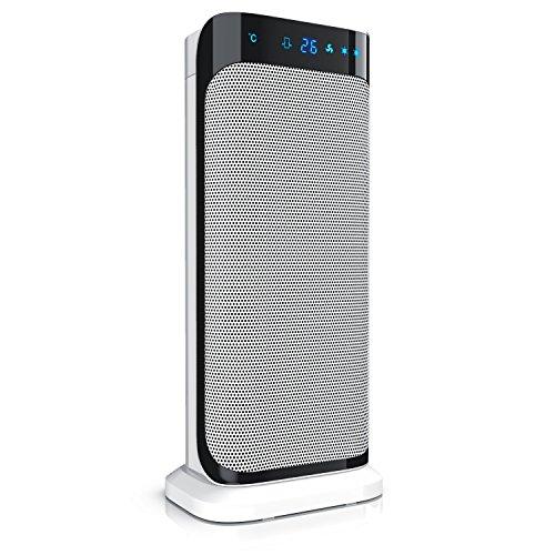 Brandson - radiateur soufflant céramique - avec télécommande - 2000W - appareil de chauffage - fonction d'oscillation - 2x niveau de chauffage – temporisateur – blanc