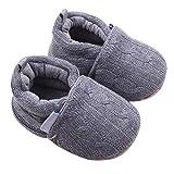 Tefamore Zapatos de niño pequeño (Longitud: 13CM, Gris)