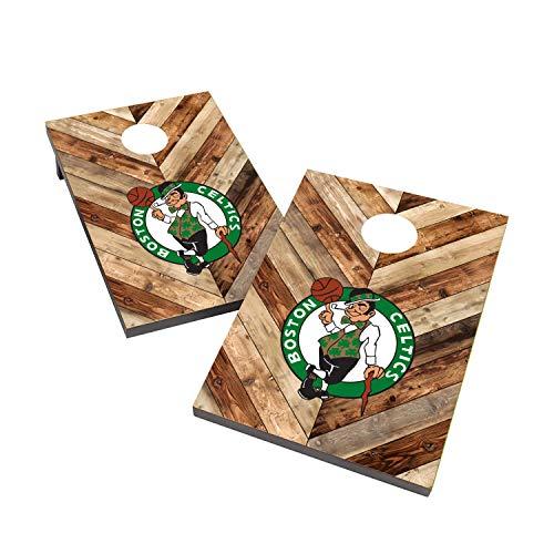 Victory Tailgate NBA Basketball 2x3 Cornhole Game Set - Boston Celtics