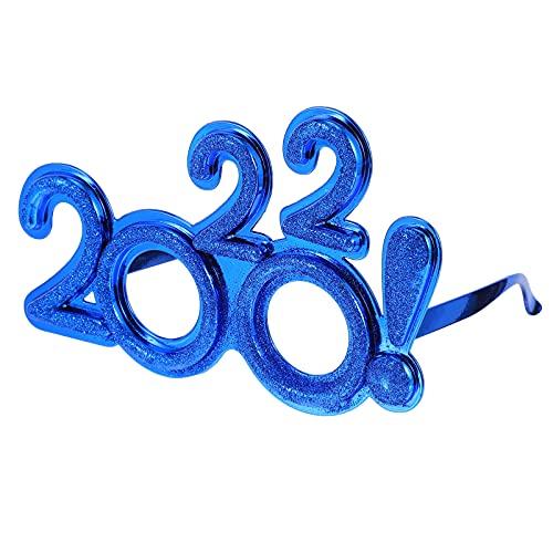VALICLUD 1 Pair 2022 Del Partito Occhiali Da Vista Anno Occhiali Fancy Partito di Anno Occhiali Blu Divertente Eyewear per Il 2022 Anno Eve Party Decorazioni Photot