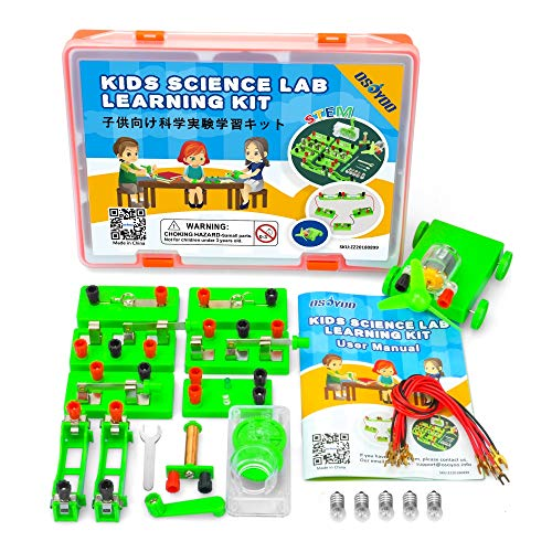 OSOYOO Science Project Learning Kit | Electricity Magnetism Circuit Building Experiment | Parallel Energy Problem Solving Set for Students | Stimulate Early STEM Intelligence IQ for Middle Schoolers