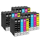 Pack de 20 cartuchos para impresora Tinnee, compatible con Epson 71XL (no OEM), recambios para cartuchos Epson T0711 T0712 T0713 T0714 T0715, compatible con Epson Stylus SX100 SX218 SX415 SX515W