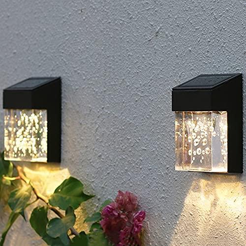 Luci solari, lampade da giardino all'aperto, luci impermeabili per la casa, lampade da parete impermeabili, lampade decorative del paesaggio del giardino, luci della parete della villa, lampade dell'a