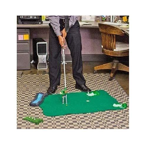 TIREOW Jeu De Mini-golf Intérieur, Ensemble De Jeu De Golf Avec Un Petit Gars Attaché Au Club De Golf, Tables Et Chaises De Mini-plage (deux Chaises, Une Avec Table De Parapluie) (A)