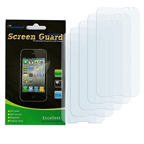 Colorfone 5X Premium Display Screenprotector Clear/Protezione Schermo/Pellicole protettive per Display/Protettiva Schermo con Un Panno di Pulizia per Sony Xperia L