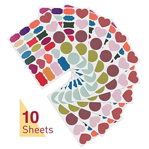 Kesote 280x Etiketten Selbstklebend Aufkleber Bunt Haushaltsetiketten Küchen Blanko Sticker