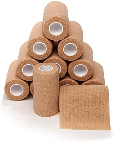 popular 4-in Wide Self Adherent Cohesive Wrap new arrival Bandages (12 Pack), 5 yds Self Adhesive Non Woven Bandage Rolls, Brown Athletic Tape, Hand 2021 & Wrist Wraps, Ankle Tape, Premium-Grade Medical Stretch Wrap outlet online sale