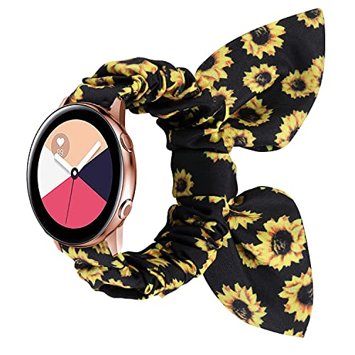 Mujeres Scrunchie Elastic Strap Adecuado para Samsung Galaxy Watch Active 2 40mm 44mm Sansung Gear S3 Classic Huawei Watch 2 Fashion Band Cierre de reemplazo (Band Color : 119, tamaño : Fit 22mm)
