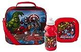 Dimensioni: 22 x 20 x 7 cm. Caratteristiche: borsa per il pranzo, bottiglia sportiva + porta sandwich. Design: immagine Marvel Avengers sul davanti e vedere attraverso la parte posteriore.