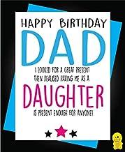 Funny Rude Birthday Card - Dad - Daughter C248