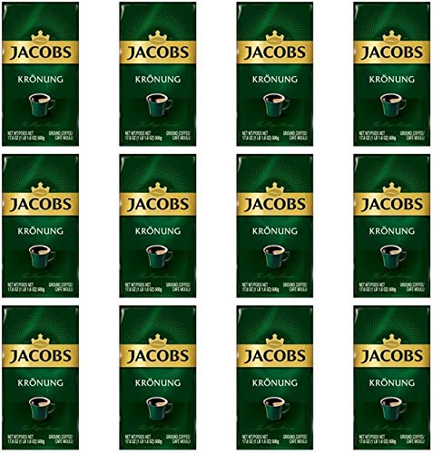 Jacobs Kronung Ground Coffee 500 Gram / 17.6 Ounce (Pack of 12)
