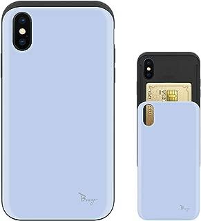 iPhone Xs ケース iPhone X ケース TPU バンパー Bumper 耐衝撃 カード入れ マット加工 ワイヤレス充電対応 スマホケース 擦り傷防止 保護フィルム Breeze 3DP 正規品 [IXJP211BN]