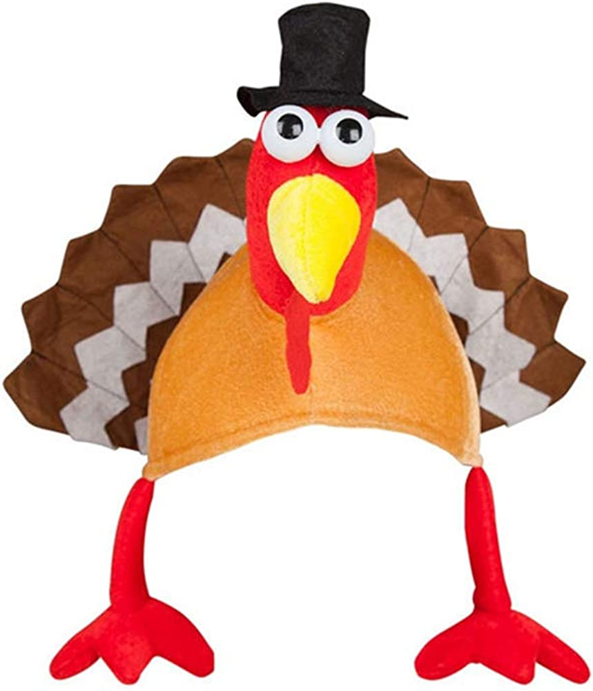KONVINIT Thanksgiving Day Turkey Hat Short Gobbler Cap quality assurance Festival shopping