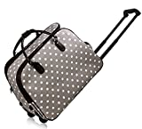 <span class='highlight'><span class='highlight'>TRENDSTAR</span></span> Ladies Travel Bags HOLDALL Butterfly women hand luggage with wheels Trolley (A - Grey)