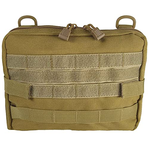 PatiosGuard Tactical Admin Molle Pouch, Utility Tool Bag Medical EDC EMT Attachment Case for Ourdoor Sports Hunting Hicking (Khaki)