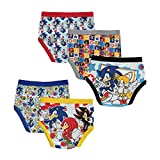 Sonic the Hedgehog Boys' Big Boxer, Sonic 5pk Brief, 8