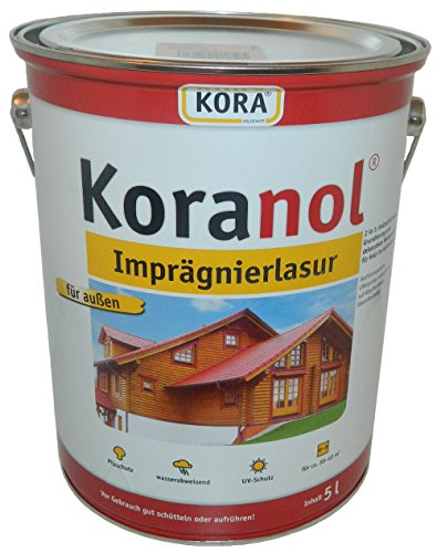 Koranol Imprägnierlasur Aussenlasur Holzschutzlasur Palisander 5L