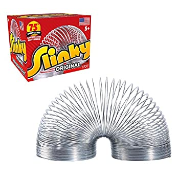 The Original Slinky Walking Spring Toy Metal Slinky Fidget Toys Party Favors and Gifts Toys for 5 Year Old Girls and Boys by Just Play