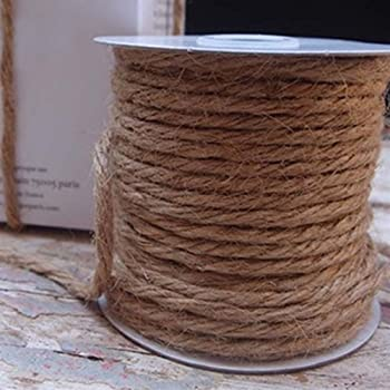 Hot 30M Natural Brown Jute Hessian Burlap Twine Sisal Rustic String Cord T ZT