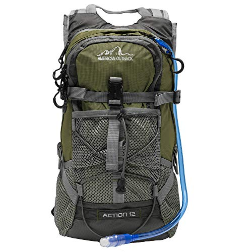 American Outback World Famous Sports Hydration Backpack, 2 L, Green