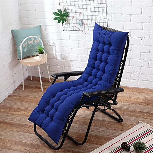 AINIYUE Coussin de Chaise Longue, Couverture de sièges de Jardin de terrasse extérieure de Chaise Longue, pour Les Vacances de Voyage 48X125cm Bleu