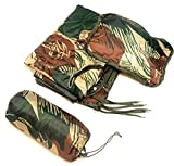 Dragoon Unlimited Zippered Fireforce Woobie - Rhodesian Army Style Brushstroke Camouflage Military Grade Poncho Liner Blanket Sleeping Bag System with Stuff Sack and Head Pad