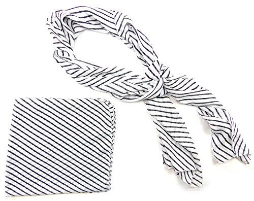 Set serviettes ANNÉES 50 tuecher 4370 rockab. Chiffon 2stk Blanc