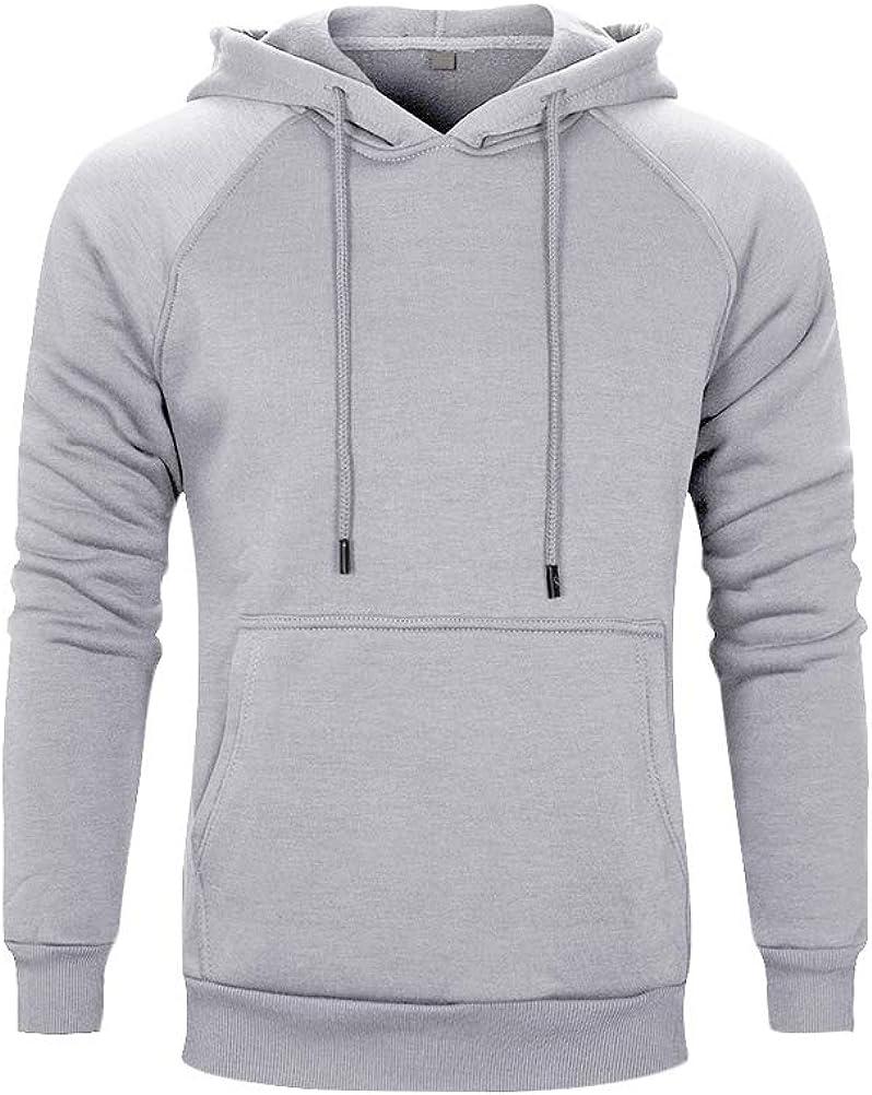PASOK Men's Pullover Fleece Hoodie Long Sleeve Hooded Sweatshirt with Kanga Pocket