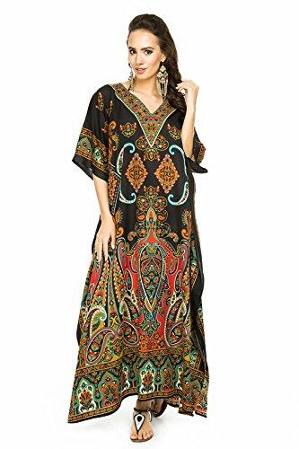 Looking Glam Nuevo para Mujer Muy Grande Maxi Kimono Túnica Kaftán Vestido Kaftán tamaño Libre