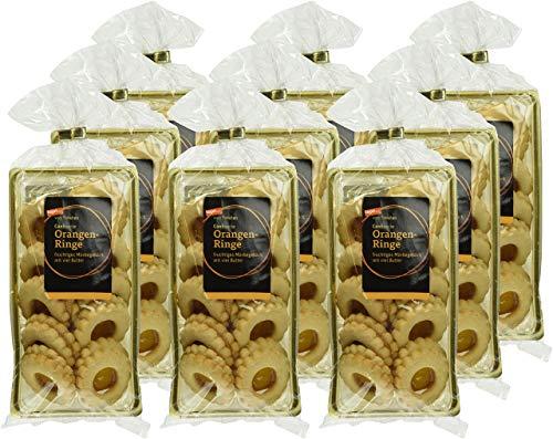 tegut... vom Feinsten Mürbegebäck Orangen-Ringe, 9er Pack (9 x 100 g)