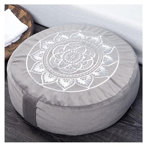 Florensi Meditation Cushion (16'x16'x5'), Large Velvet Meditation Pillow, Premium Yoga Pillow for Women and Men, Yoga Cushion, Meditation Pillows for Sitting on Floor, Buckwheat Meditation Cushions