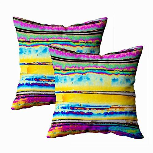 Juego de 2 fundas de almohada para exteriores, 45,7 x 45,7 cm, con microcristales en urea clara, polarizados, para decoración del hogar, fundas de almohada con cremallera, fundas para sofá o sofá