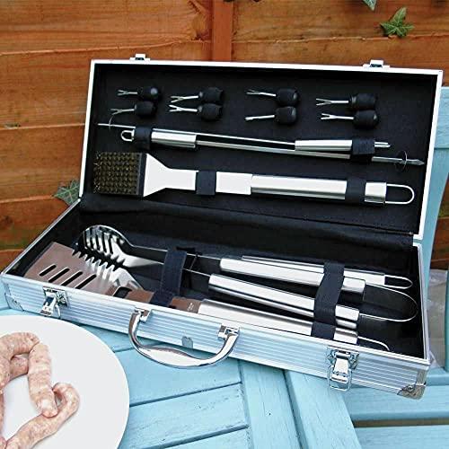 The Source Wholesale BBQ Tool Set in Aluminium Case