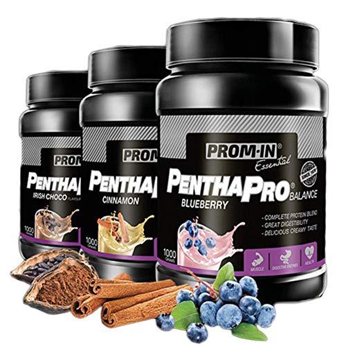 Batido de proteína en polvo Pentha pro balance con 5 fuentes diferentes de proteína de PROM-IN   mezcla integral para obtener los máximos resultados (Arándano, 40 g)