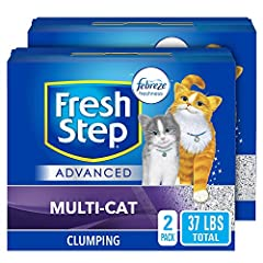 FIGHTS ODORS LONGER: Fight litter box odors with Fresh Step Advanced Cat Litter that starts fighting odors on contact to control odor longer vs. Fresh Step Multi-Cat; Packaging may vary MULTI CAT LITTER: Extra strength formula is strong enough to han...