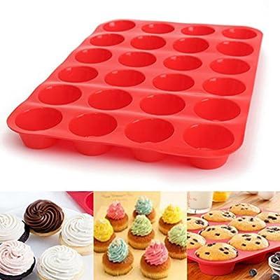 24 Cavity Mini Muffin Silicone Cookies Cupcake ...