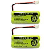 OXWINOU 2.4V Rechargeable Battery Compatible with AT&T Vtech Phones BT18433 BT184342 BT28433 BT284342 BT-8300 BATT-6010 BT1011 BT1018 BT1022 BT1031 89-1326-00-00 CPH-515D CS6120 CS6209(2-Pack)