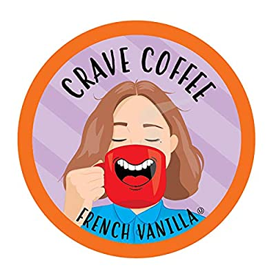 Crave Flavored Coffee Pods, Compatible with 2.0 K-Cup Brewers, French Vanilla, 100 Count