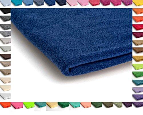 Polar Antipilling Fleece Stoffe 200 g / m² von allerbester Qualität erhältlich in 50 Farben 50 x 155 cm (Nr 17 Königsblau)