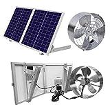 ECO-WORTHY 25W Solar Powered Attic Ventilator Gable Roof Vent Fan with 30W...