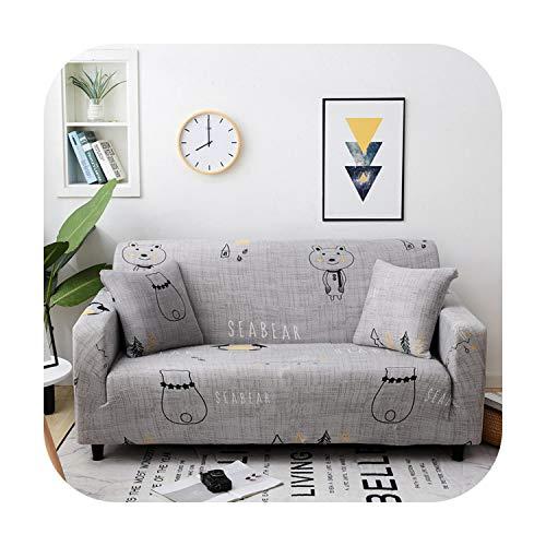Funda de sofá Elástico Elástico Estiramiento Fundas Seccionales para Sala de Sofá Cubierta en forma de L Sillón Cubierta 1/2/3/4 asiento, 4, 2x pillowcases
