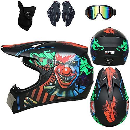 Casco de motocross infantil D. O. T Standard – para adulto con...