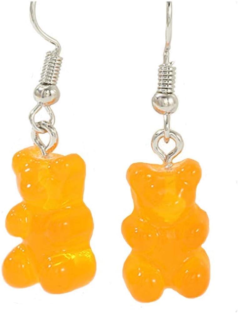 YIZHEN Cute Gummy Bears Necklace and Earring Cartoon Animal Jewelry for Women Girls